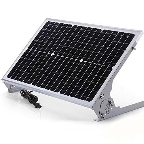 Suner Power 12v Waterproof Solar Battery Trickle Charger Maintainer 30 Watts Solar Panel Built In Intelligent Mppt Solar Charge Controller Adjustable Mount Bracket Sae Connection Cable Kits Solar