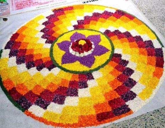 Indian Floral Design For Onam Festival (10)