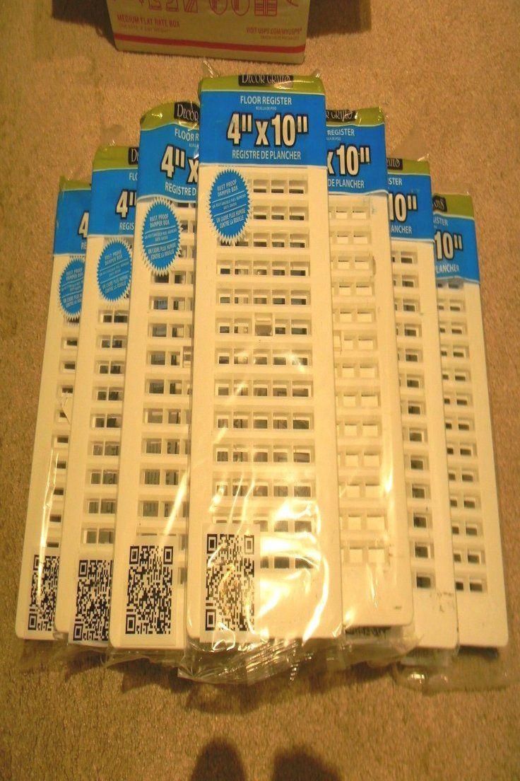39 99   Lot of 10 *NEW* 4X10 Decor Grates White Plastic