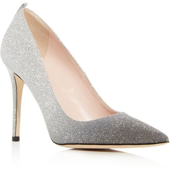 Sjp by Sarah Jessica Parker Women's Fawn Glitter High Heel Pumps (1.530 RON) ❤ liked on Polyvore featuring shoes, pumps, silver, sjp, sjp pumps, glitter pumps, high heel shoes and sjp shoes