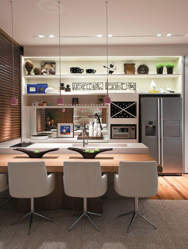 Oito cozinhas gourmet com espaços funcionais e cores sóbrias - Casa