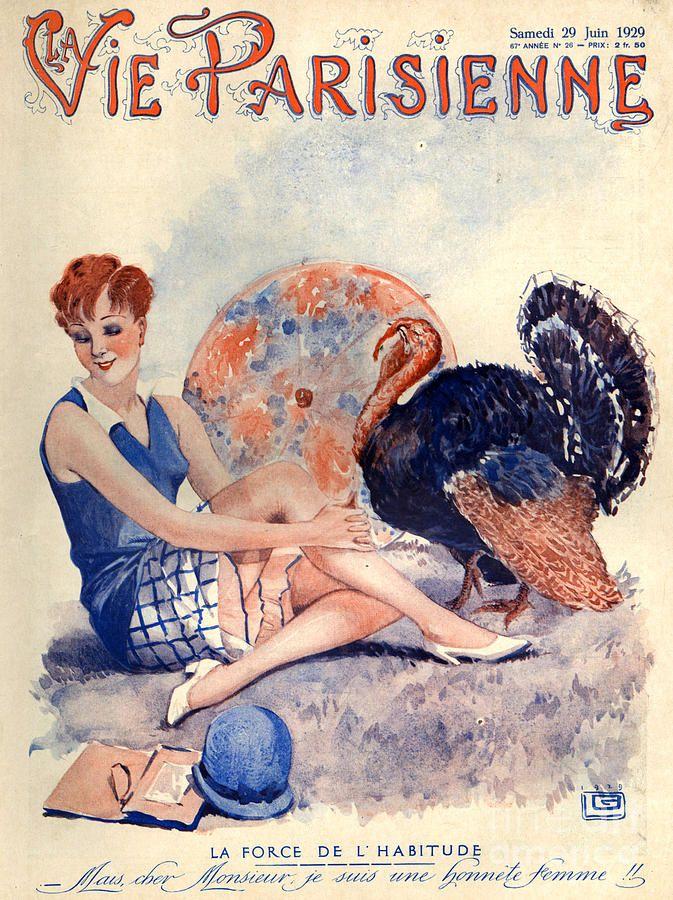 1920 Parisienne França Life Magazine Tiragem: