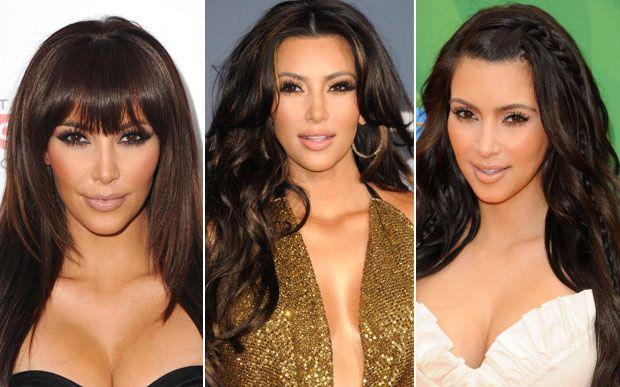 Acompanhe a evolução do cabelo de Kim Kardashian Parece que ela gostou mesmo da ideia dos apliques de franja, não? Em 2011, Kim colocou algumas mechas loiras e finas, que foram escurecendo ao longo do tempo.