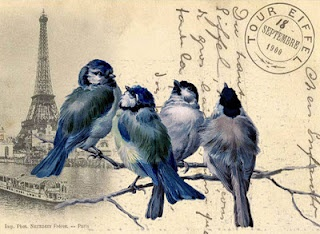 Birds of a Feather and French Postmark graphic