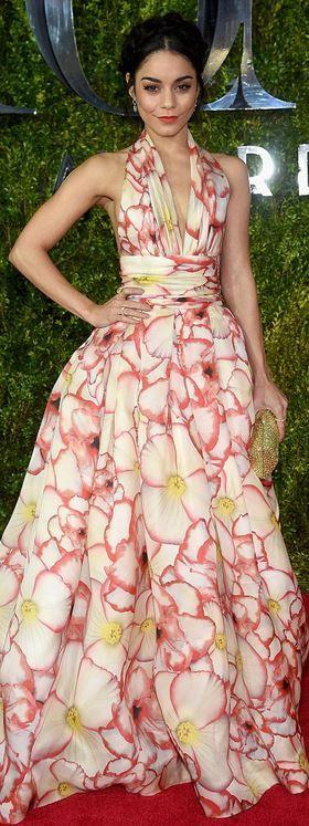 Vanessa Hudgens: Dress – Naeem Khan  Shoes – Kurt Geiger  Purse – Rodo  Jewelry – Norman Silverman