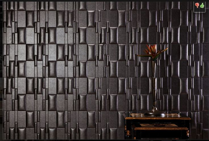 Stick On Wall Tiles: Nappa Tile - Peel-n-stick Wall Faux Leather Tile