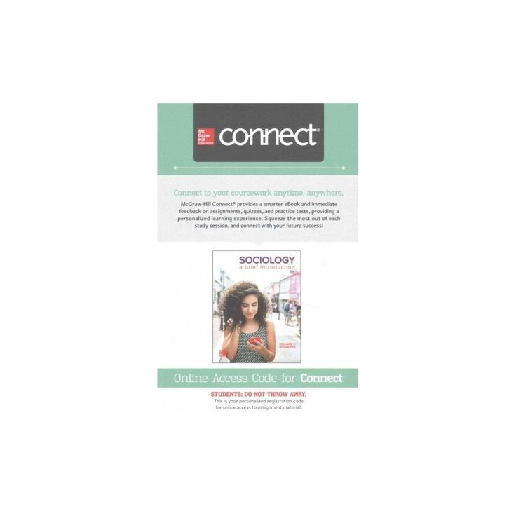 Best 25 connect mcgraw hill ideas on pinterest mcgraw hill sociology mcgraw hill connect access code a brief introduction richard t schaefer fandeluxe Image collections