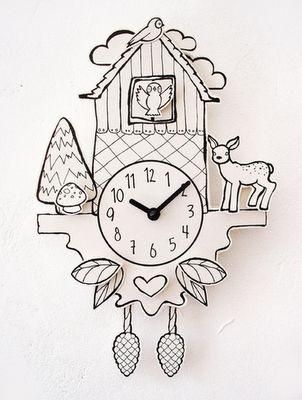 ~Paper Cuckoo Clock by petie...Would be so hands on fun for the kiddies!