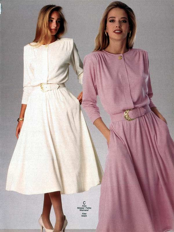 Women's Dresses from a 1991 catalog #1990s #fashion #vintage