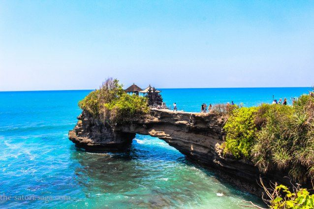 Bali Motorbike Travel Guide . The photo is clicked at a water temple Tanah Lot