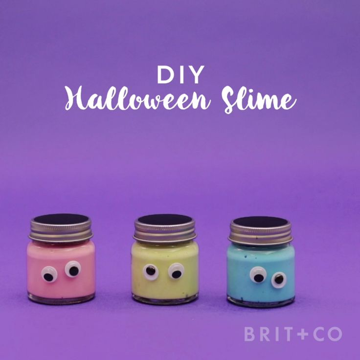 Watch this easy video tutorial to learn how to make a jar of DIY Halloween slime for your spooky party.