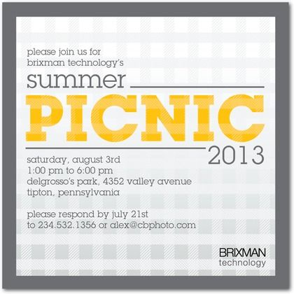 announce your next corporate picnic with these cute event