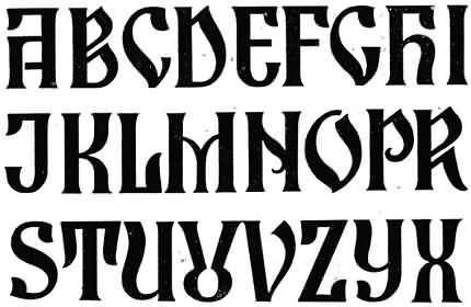Decorative writing in east Europe 1, 2, 3 and 4 Russian 5, 6 and 7 Romanian