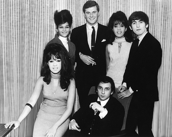 The Ronettes and Phil Spector with George Harrison and Tony King