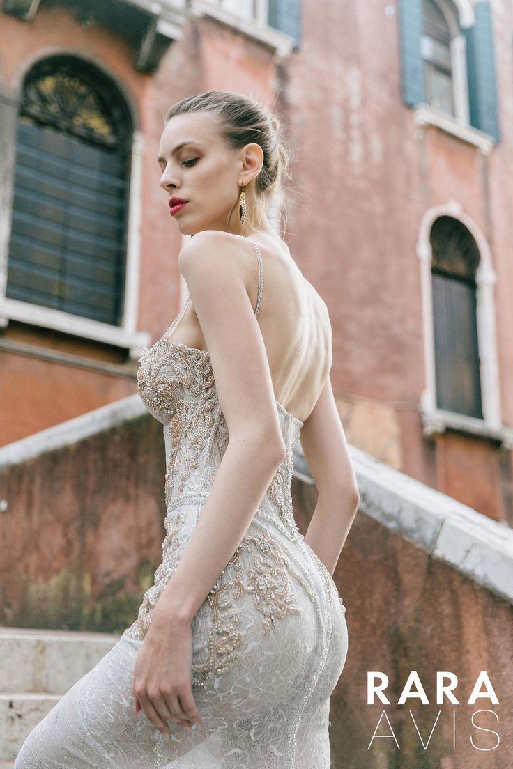 Fabulous lace wedding dress DARLING by RARA AVIS • Mermaid wedding dress • Luxury wedding dress • Wedding dress with long train•