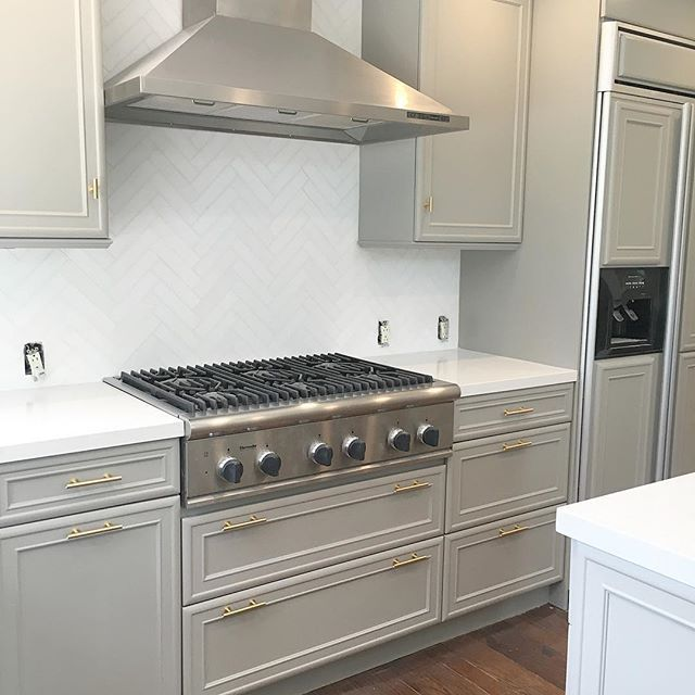 Gray Painted Kitchen Cupboards: Beautiful Kitchen Cabinet Paint Color. Sherwin Williams