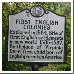 First English Colonies marker