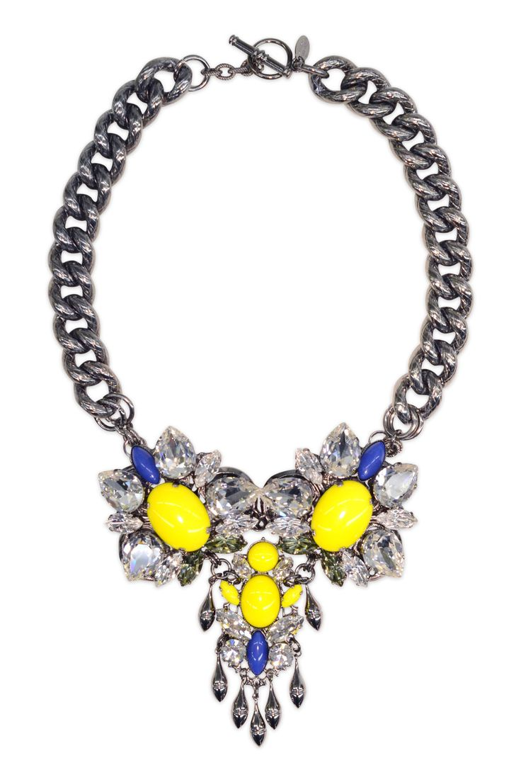 Anton Heunis Colorblocked Crystal Necklace