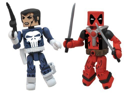 Diamond Select Toys Marvel Minimates Best of Series 2: Punisher and Deadpool, 2-Pack by Diamond Select Toys. $8.50. From the Manufacturer                A Diamond Select release. Designed and Sculpted by Art Asylum. The best Marvel Minimates DST has ever made are back for a second series. This time, eight more of Marvel's most famous heroes and villains get the ultimate Minimate treatment: Mr. Fantastic and Dr. Doom, Daredevil and Venom, Punisher and Deadpool and Hulk an...