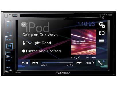 """DVD Automotivo Pioneer AVH-288BT - Tela 6,2"""" Bluetooth USB Entrada Auxiliar com as melhores condições você encontra no Magazine Tonyroma. Confira!"""