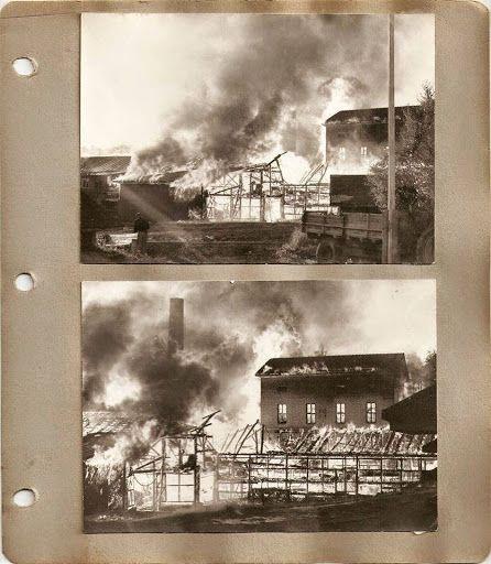 Ähtärin historiaa - Ostolan saha paloi valtavassa roihussa noin 1965.