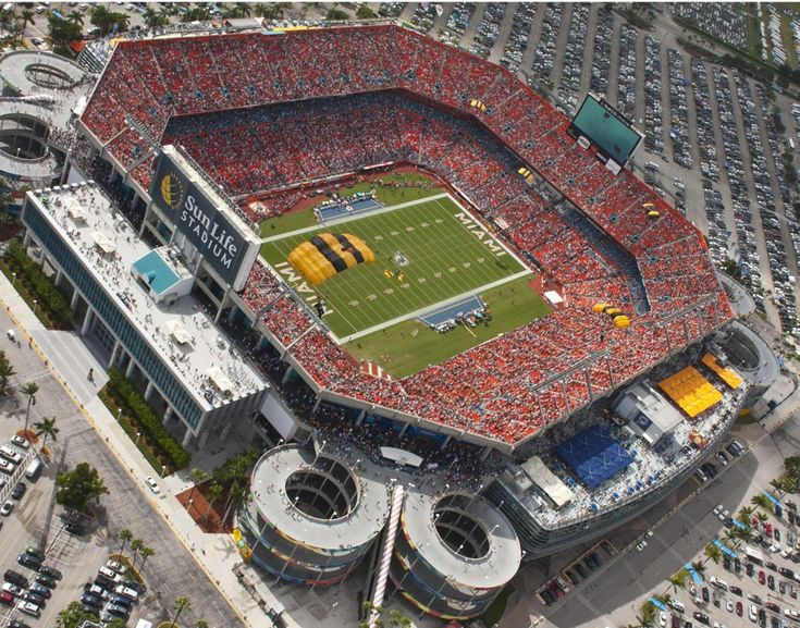Sun life Stadium, Miami.  Home of the dolphins