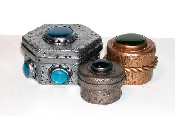 Polymer Clay Polyzine - June 2002 - Treasure Boxes