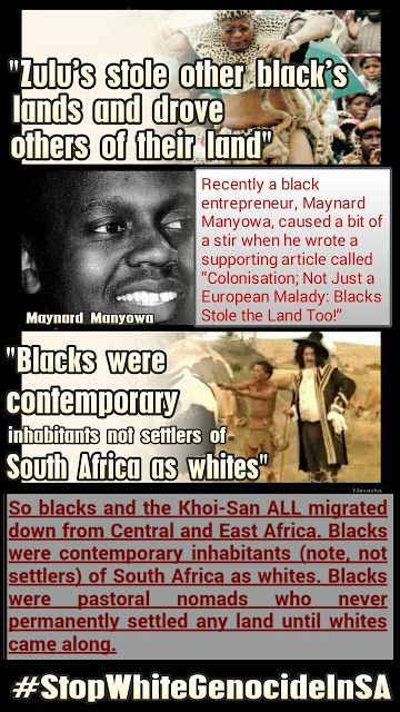 "DOES SOUTH AFRICA BELONG TO (ONLY) THE KHOI-SAN AND/OR BLACKS?  ""BLACKS were contemporary inhabitants NOT settlers... Read more....  Stop White Genocide In SA #StopWhiteGenocideInSA"