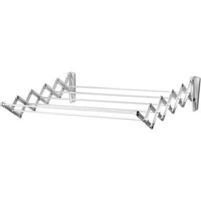 """Features:  -Drying Rack.  -Accordion style.  -Wall mount; installation required.  Type: -Wall Mounted Drying Racks.  Location: -Indoor/Outdoor. Dimensions:  -When flat it is 4"""" and can extend to 18"""" ."""