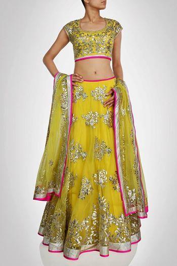 lehenga, love, yellow, pink, silver, embellished, choli, dupatta, wow, gorgeous
