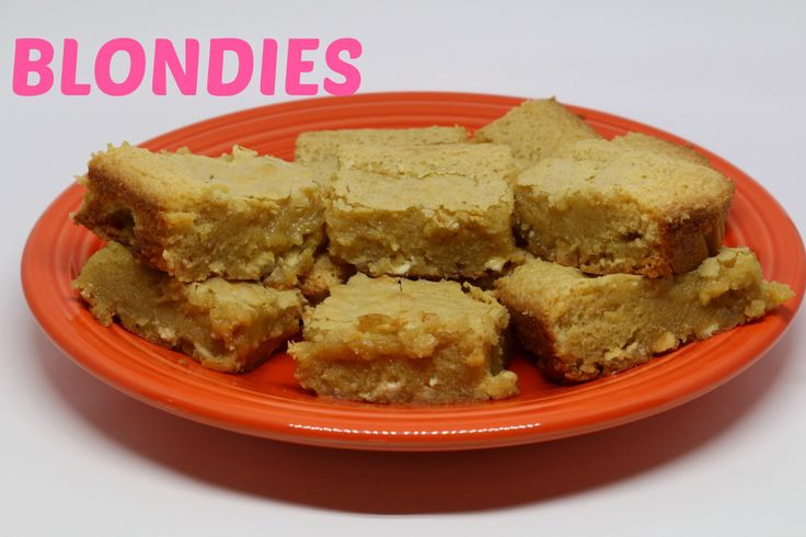 """Video Tutorial: Blondie's are just a """"blonde"""" version of brownies. I used my fudgy brownie recipe (which is the best), but instead of milk chocolate chips, I used white chocolate chips and took ou..."""