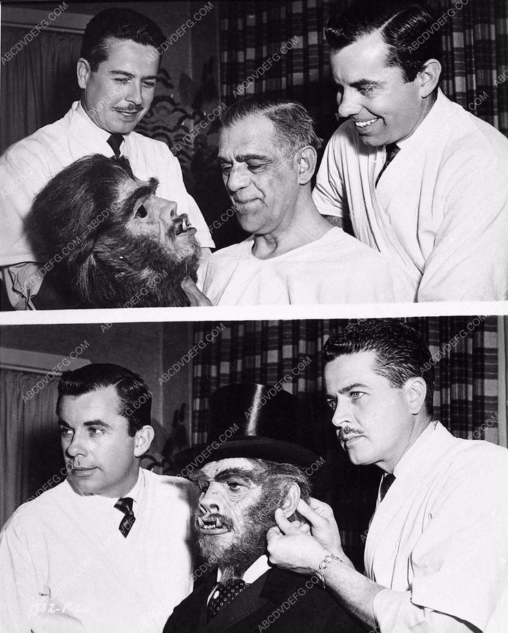photo Bud Westmore Boris Karloff makeup for A&C Meet Jekyll & Hyde 805-29