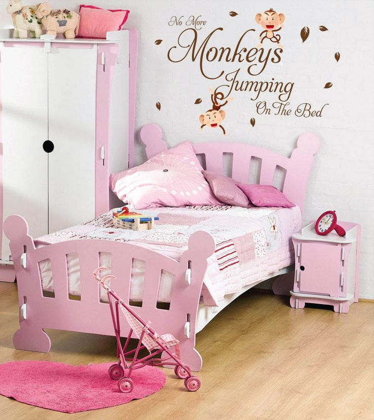 beautiful wall decals quotes with monkey for little girls bedroom