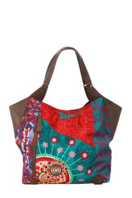 Desigual women's Shopping Annelise bag. A shopping bag, with a short shoulder strap. It has a single spacious interior compartment. Snap fastening.