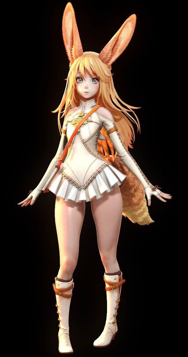3D modeling and Render of Teraonline Elin-   http://steparu.com/previews/mmorpg/1773-bluehole-studio-s-project-exa-3d-character-render-images