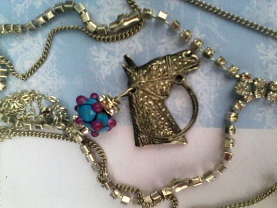 Horse jewelry Horse racing Horse necklace Equestrian