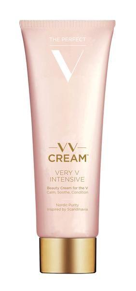"""VV Cream™ - Very V Intensive  Multi-Funktions Skønhedscreme Til Dig Med Et Ekstra Sart """"V""""  Plejer. Fornyer. Perfektionerer.  Holder Det Perfekte V Smukt Imens Den Hjælper Med At Reparere Effekter Fra Hårfjerning. ------------ VV Cream™ - Very V Intensive  Beauty Cream For The V With A Problem Or Two.  Calm. Soothe. Condition.  Intensive But Gentle Repair From The Damaging Effects Of Hair Removal."""