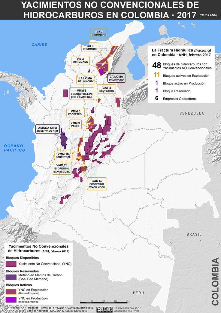 Yacimientos no convencionales de hidrocarburos en Colombia, febrero 2017