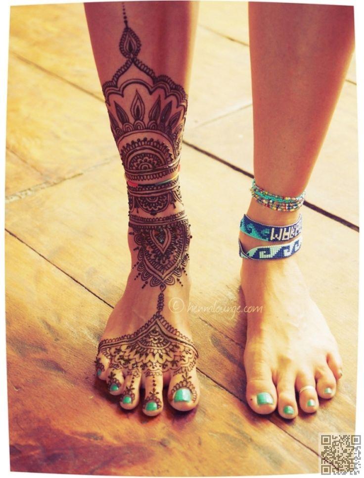 24. #Tulum inspirado - 35 #inspiraciones de diseño de #tatuaje de Henna…