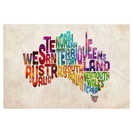Australian States Canvas Wall Art