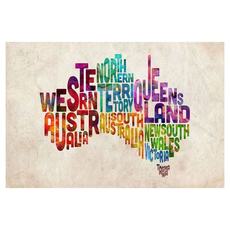 Australian States Canvas Wall Art