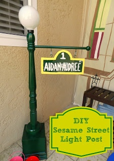 Sesame Street Light Post DIY