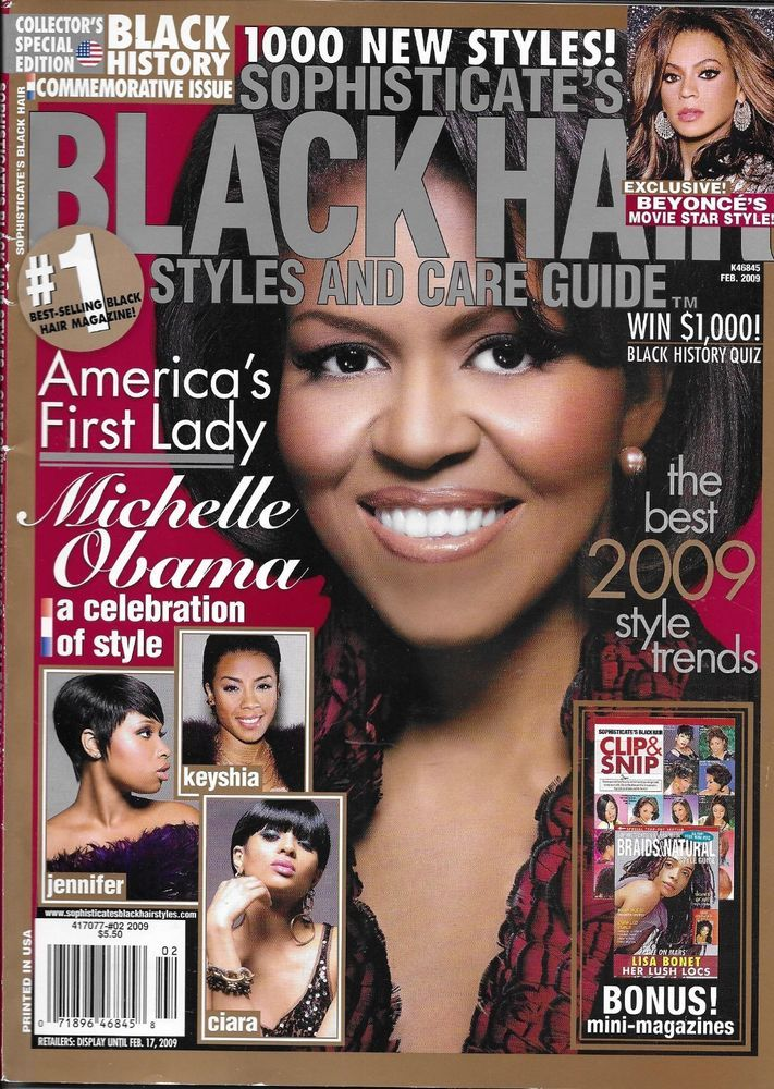 Sophisticates Black Hair Magazine Michelle Obama Beyonce Lisa