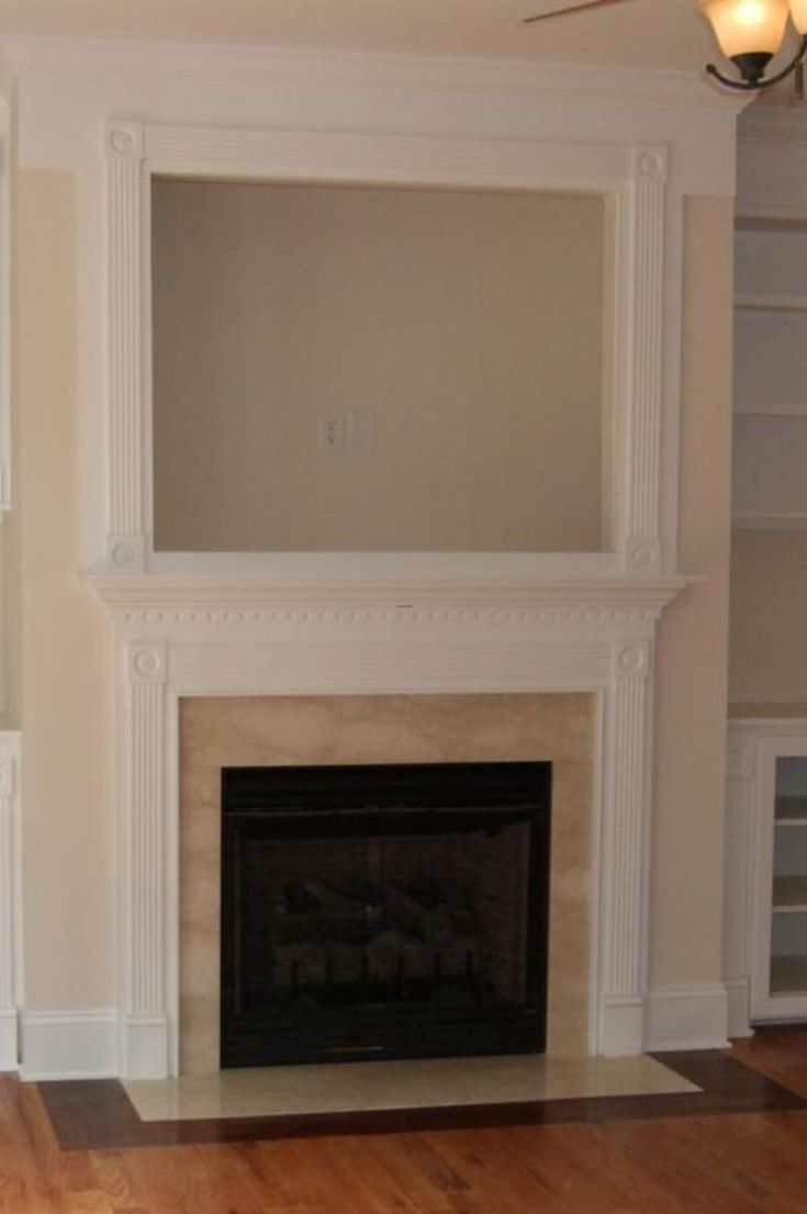 Framing a gas fireplace woodworking projects plans for Tv over fireplace