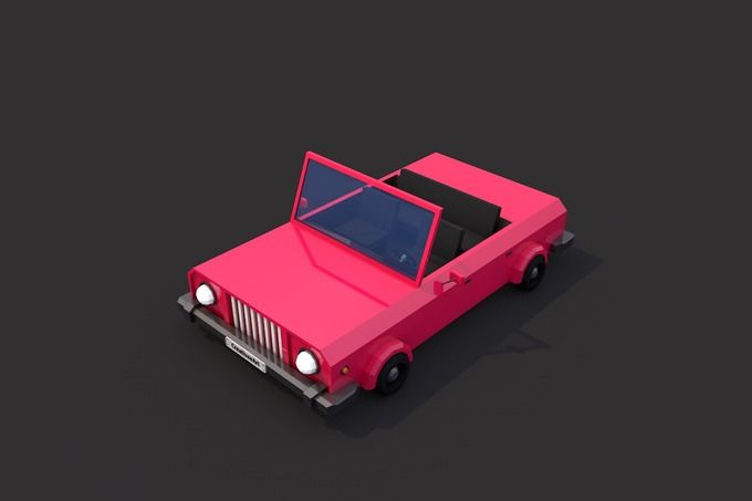 Low Poly Cabriolet by CreativeeArt on @creativemarket