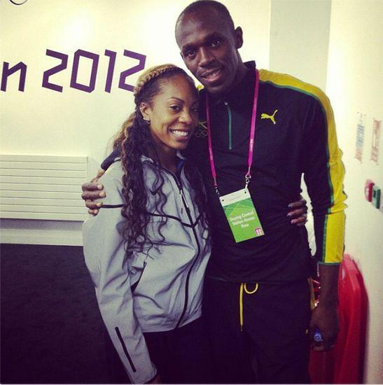 Sanya Richards-Ross and Usain Bolt