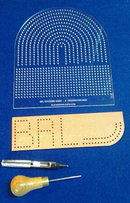 PRECISION STITCHING LAYOUT GUIDE - 1 PIECE TEMPLATE FOR LEATHER STITCHING - PSG6