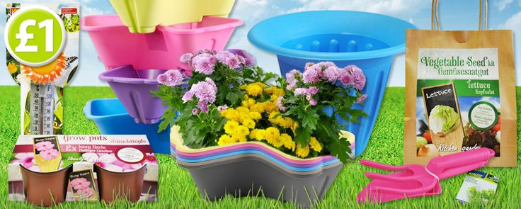 Its a gardening extravaganza! We have everything you need this spring...seeds, pots, ornaments, solar lights, fertilisers and much more, all only £1 each! http://www.poundshop.com/home-garden/garden