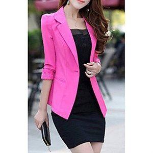 Elegante chaqueta rosada si te gusta el color puedes atreverte con estos bellos y llamativos colores