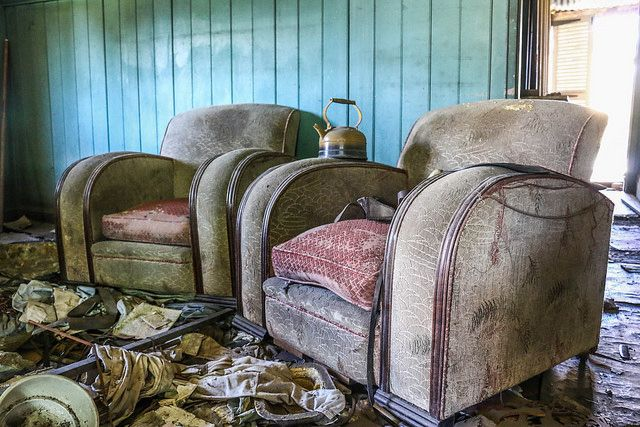 The Radiola's  Auctioneers, was completely full of items from way back. These two chairs where sitting in the center of the large queenslander.